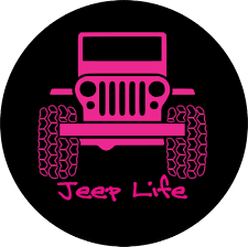pink camo jeep jeep life pink spare tire cover
