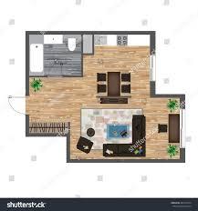 living room floor plans architectural color floor plan studio apartment stock illustration