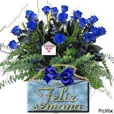 imagenes de feliz inicio de semana con rosas feliz semana con ramo de rosas azules 929 imágenes dias de la semana