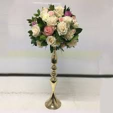 Table Flower Gold Candle Holder 50cm 20