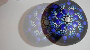 how to paint rock mandalas 11 blue bonnet design youtube
