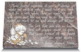 Condolence Gift Ideas Sympathy Gift Ideas For Loss Of Baby U2013 Memorial Plaques