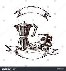 espresso coffee clipart hand drawn coffee espresso coffee maker stock vector 403202830