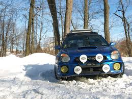 subaru rally snow new light bar setup with quad hella 500s subaru