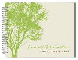 anniversary guest book anniversary guestbook golden anniversary guest book