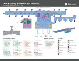 Los Angeles Airports Map by Lax Terminal B International Eat N Fly