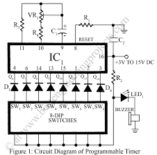 programmable timer with alarm verified electronics project
