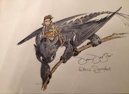train dragon u0027 hiccup toothless darkangel6021