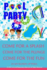 pool party invitation wording template markit2d mckenna u0027s