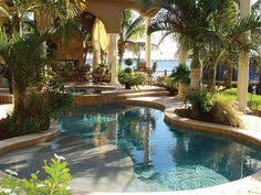 Beautiful Pools Natural Edge Pool With Spa Slide And Waterfall By Distinctive