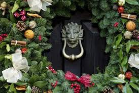 how to hang wreaths on big front doors home guides sf gate