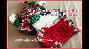 mini christmas stocking crochet pattern youtube
