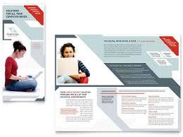 tri fold brochure software computer solutions tri fold brochure