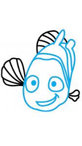 draw nemo kids cartoons sea animals easy step