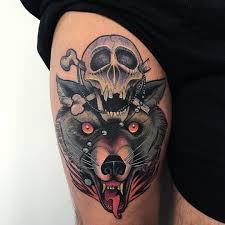 beautiful wolf on hip wolf ideas
