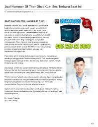 obattahanlama24 blogspot co id jual hammer of thor obat kuat sex terb
