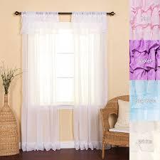 amazon com best home fashion chiffon sheer cancan curtains rod