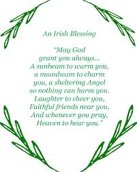 irish blessing printable free printable saints and free