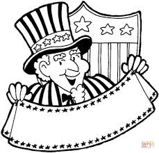 uncle sam coloring page to encourage to color an image cool
