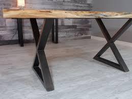 Acacia Table Corcoran Importation Zen Live Edge Acacia Table Black Metal X Legs