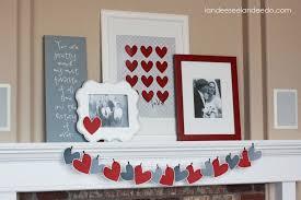 Valentine Home Decorations Valentine Heart Garland Landeelu Com