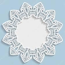 3d vector bas relief frame vignette with ornaments decorative