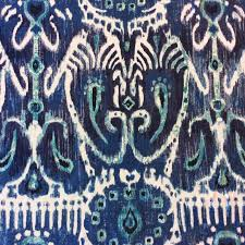 modern home decor fabric ikat indigo blue u0026 white ikat geo geometric modern cotton drapery
