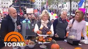 martha stewart thanksgiving martha stewart and today food all stars share ten thanksgiving
