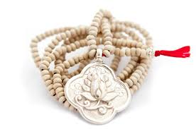 wood necklace designs images Long tulsi wood lotus flower necklace jpg