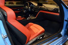bmw blue interior fully spec d yas marina blue m4 hits bmw abu dhabi dealership