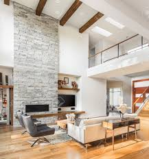 Interior Photos Luxury Homes Living Room Interior With Hardwood Floors And Fireplace In New