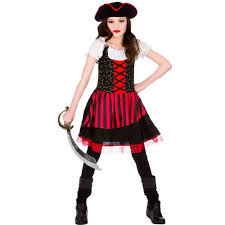 Halloween Costumes 6 Girls Pretty Pirate Kids Halloween Buccaneer Seas Costume
