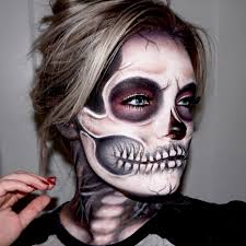 pop up halloween decorations skeleton skull makeup tutorial skull makeup skeletons and black