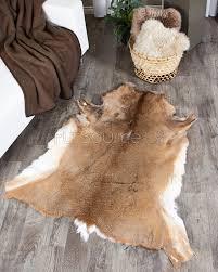 Deer Hide Tanning Companies Scandinavian White Tailed Deer Hide Rug Fursource Com