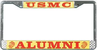 usmc alumni marine alumni license plate frame bay listings