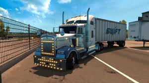 trucking companies with kenworth w900 swift transportation kenworth w900 skin updated mod ats mod
