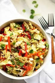 napa salad napa cabbage salad with sweet tamari sesame dressing blissful basil