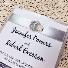 layered wedding invitations traditional silver ribbon pearl rhinestone buckle layered wedding