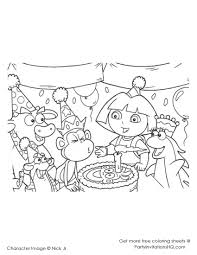 dora christmas coloring pages printable for kids from dora123 com