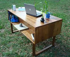 Wood You Furniture 56 Wide Desk Office Modern Solid Old Pine Wood Metal Quality Wood