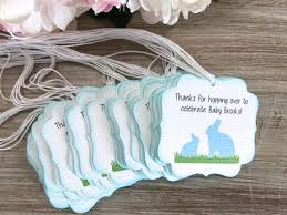 bunny first birthday party favor tag bunny baby shower favor