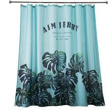 blue tropical natural custom shower curtains
