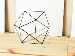 large geometric terrarium container icosahedron by waen