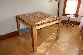 Diy Wooden Table Top by Butcher Block Hardwood Table 5 Steps With Pictures