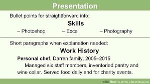 Example Of Writing A Resume by How To Write A Neat Resume 13 Steps With Pictures Wikihow