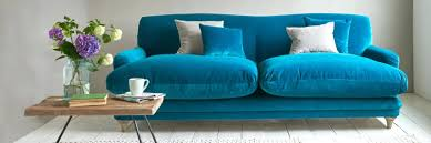 blue tufted sofa sleeper velvet living room throw pillows amazon