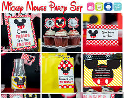 Mickey Mouse Party Theme Decorations - mickey mouse party decorations etsy