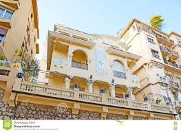 Mediterranean Style Mansions The Mansions Of Monaco Stock Image Image Of House Street 81023517