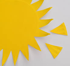 Easy Paper Craft For Kids - easy paper plate sun for first day of summer