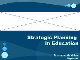 strategic planning in education
